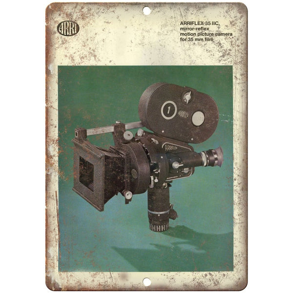 "Arriflex 35mm Film Camera Instruction Manual - 10"" x 7"" Retro Look Metal Sign"