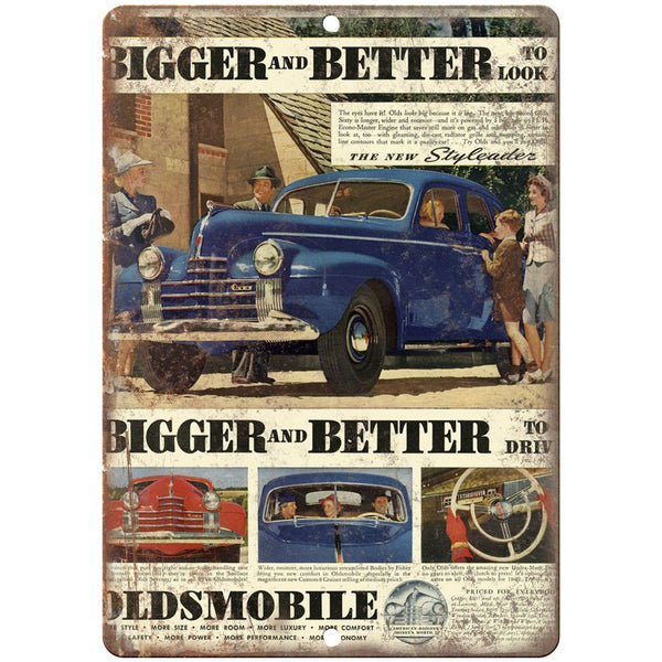 "10"" x 7"" Metal Sign - 1940 Oldsmobile Truck Ad - Vintage Look Reproduction"