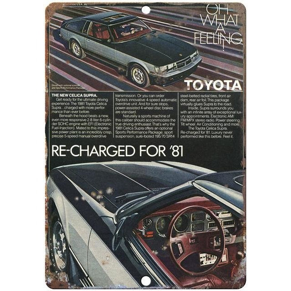"Toytoa Supra 10"" x 7"" Reproduction Metal Sign"