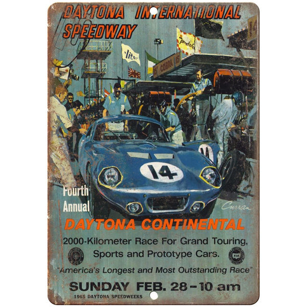 "1965 Dayton Speedway Grand Touring, prototype car 10"" x 7"" Retro Metal Sign"