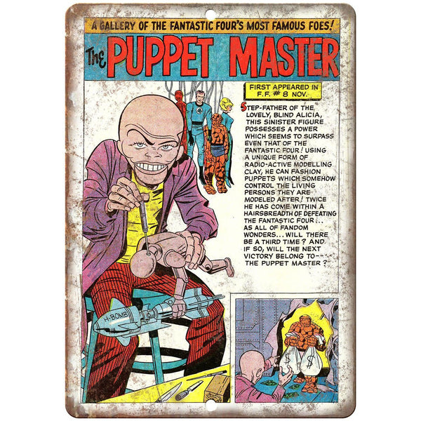 "The Puppet Master Comic Book Vintage Art 10"" x 7"" Reproduction Metal Sign J726"