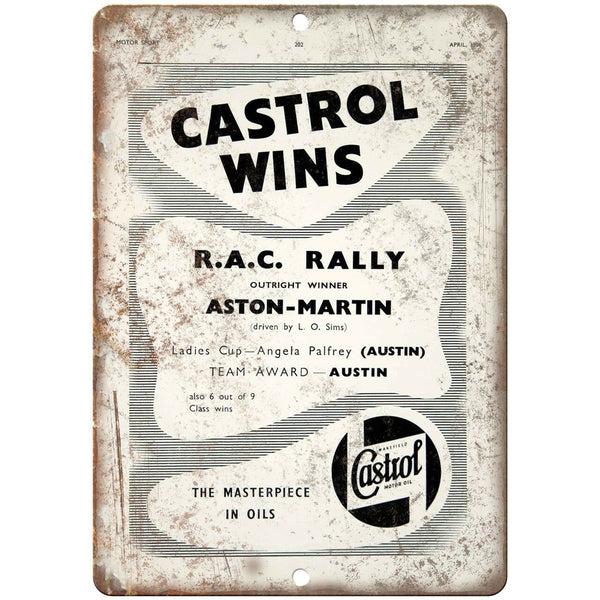 "Castrol Motor Oil Masterpiece Vintage Ad 10"" X 7"" Reproduction Metal Sign A855"