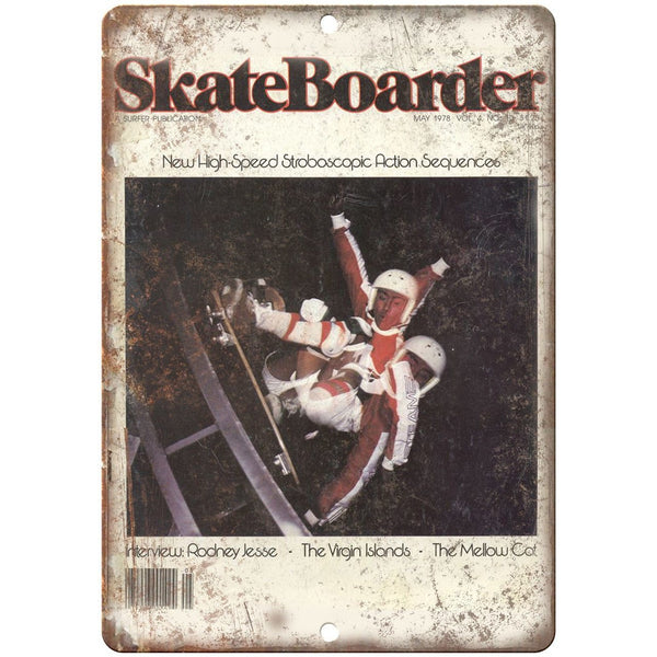 "1978 Skateboarder Magazine Freestyle Bowl 10"" x 7"" Reproduction Metal Sign"