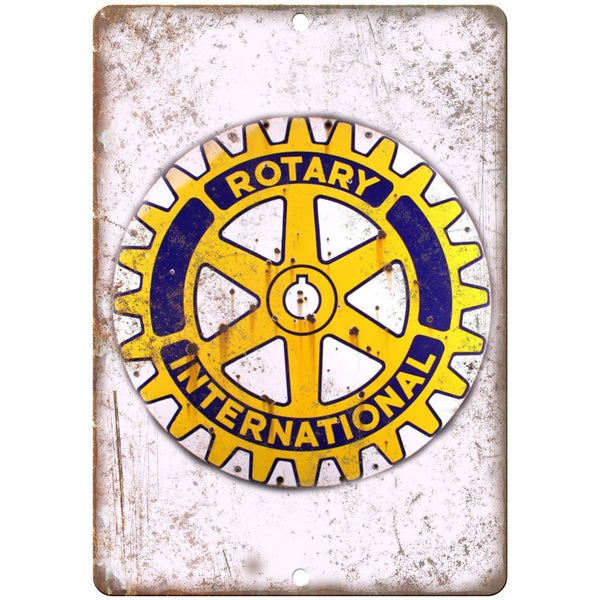 Rotary International Porcelain Look Reproduction Metal Sign U138
