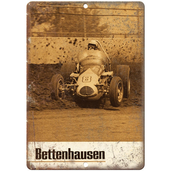 "Bettenhausen, Stock Car Races, Funny Car, Drag Races 10"" x 7"" Retro Metal Sign"