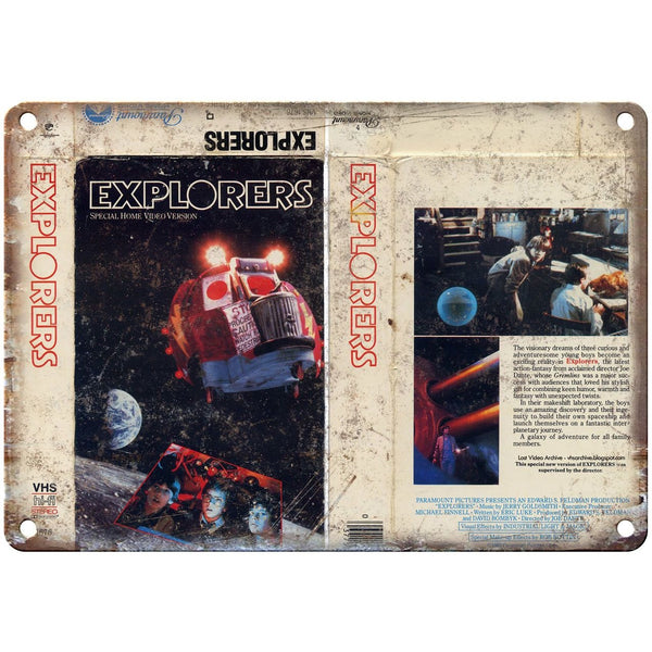 "1985 - Explorers Movie VHS Cover 10"" x 7"" Reproduction Metal Sign"