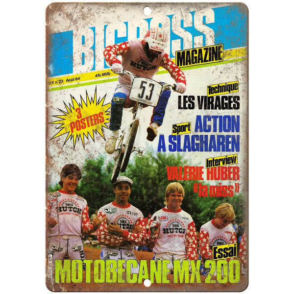 "1984 Bicross BMX Hutch Vintage Mag Cover 10"" x 7"" Reproduction Metal Sign B469"
