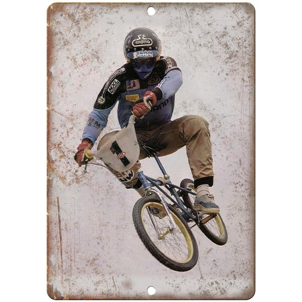 "Vintage BMX SE Racing Ad Vans Shoes 10"" x 7"" Reproduction Metal Sign B09"