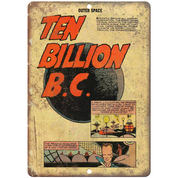 "Ten Billion BC Vintage comic Strip Ad 10"" X 7"" Reproduction Metal Sign J290"