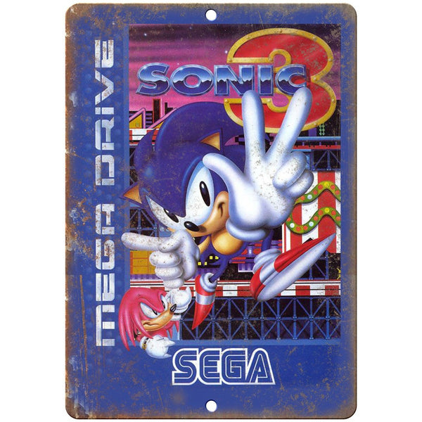 "Original Sega Mega Drive Sonic Hedgehog 3 Art 10""x7"" Reproduction Metal Sign A24"