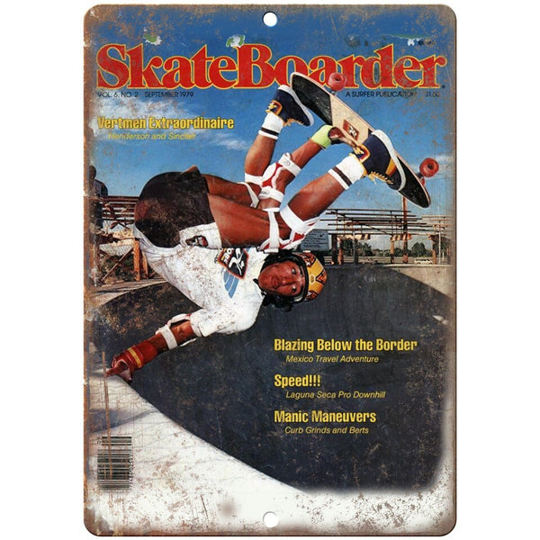 "1979 Skateboarder Magazine Freestyle Bowl 10"" x 7"" Reproduction Metal Sign"