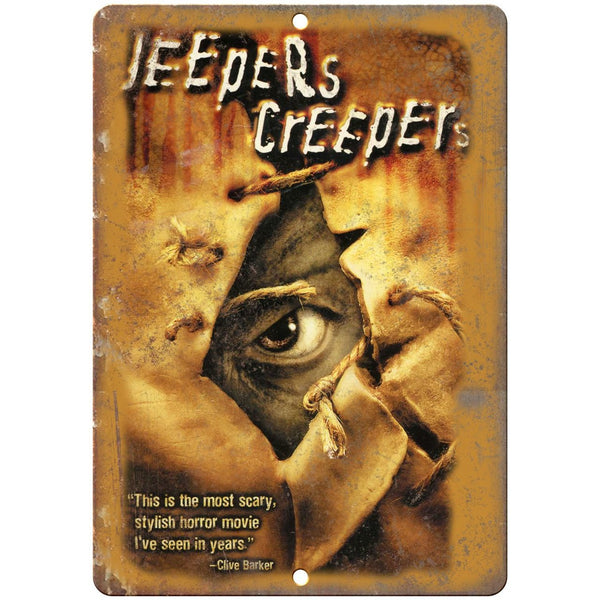 "Jeepers Creepers VHS Cover 10"" x 7"" Reproduction Metal Sign"