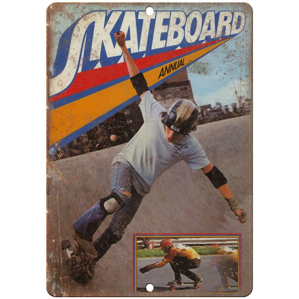 "Vintage Skateboard Annual Magazine 10"" x 7"" reproduction metal sign"