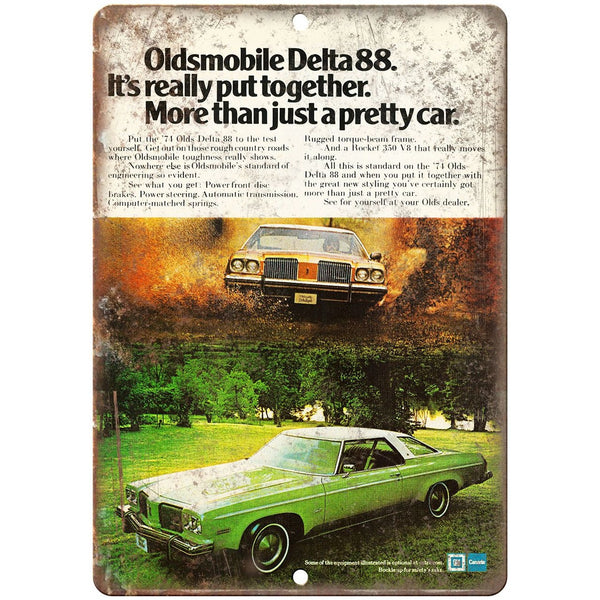 "Oldsmobile Delta 88 Ad 10"" x 7"" Reproduction Metal Sign"
