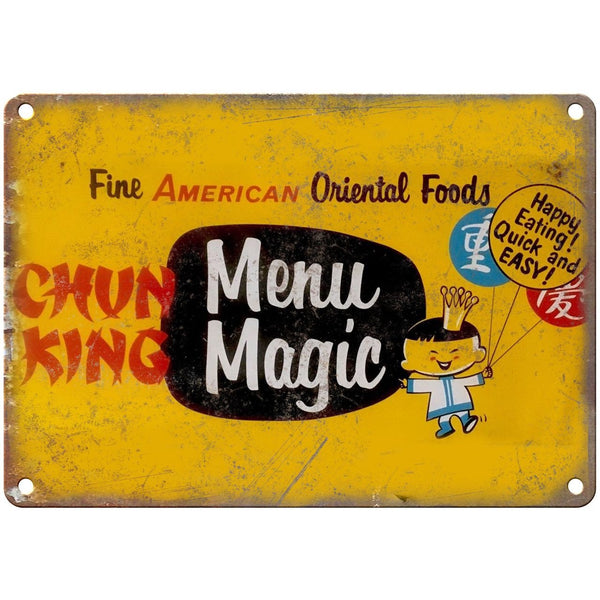 "Porcelain Look Chun King Oriental Foods 10"" x 7"" Reproduction Metal Sign"