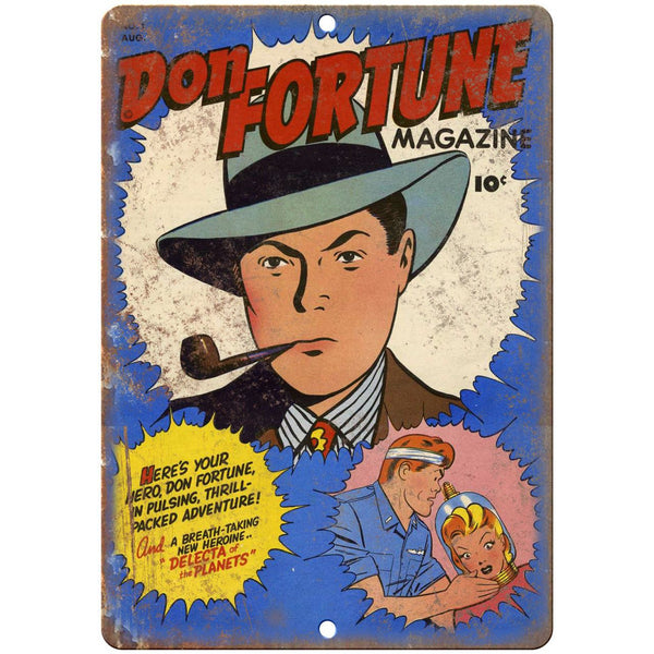 "Don Fortune Comic No 1 Comic Cover Book 10"" x 7"" Reproduction Metal Sign J689"