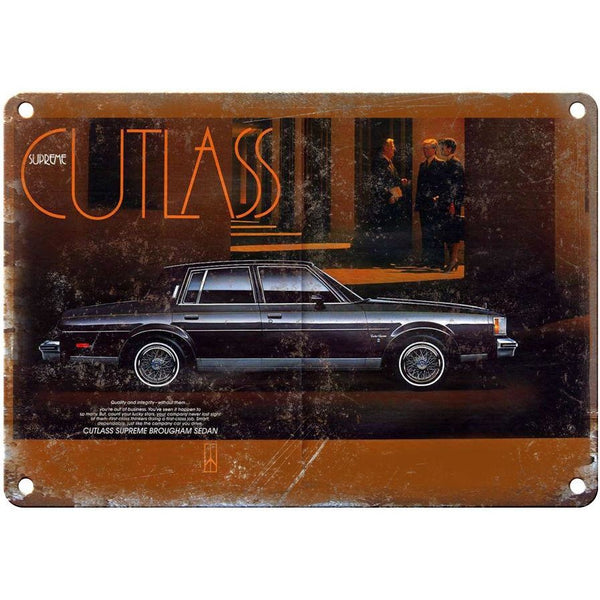 "1987 Oldsmobile Cutlass Supreme 10"" x 7"" Reproduction Metal Sign"