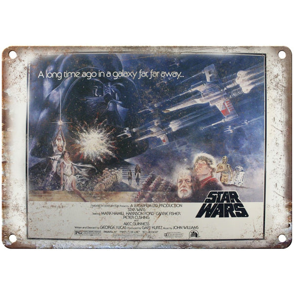 "10"" x 7"" Metal Sign - Star Wars Lucas Film Panavision Vintage Look Reproduction"