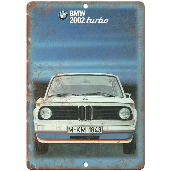 "BMW 202 Turbo Bavarian Motor Works Ad 10"" x 7"" Reproduction Metal Sign A108"