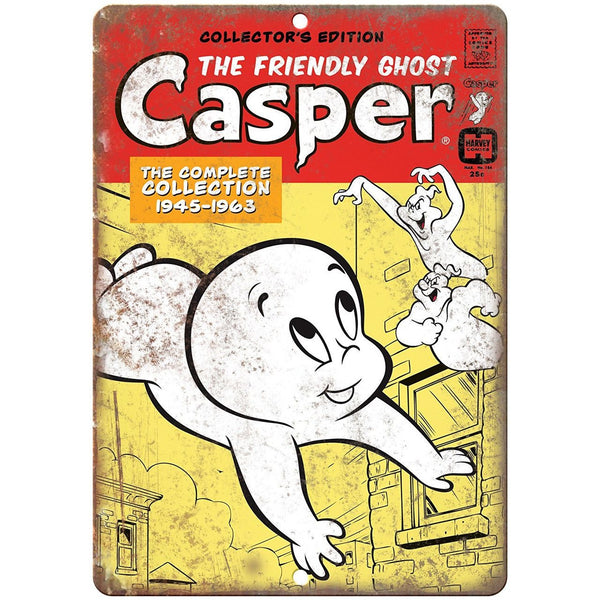 "Casper The Friendly Ghost Harvey Comic 10"" X 7"" Reproduction Metal Sign J200"
