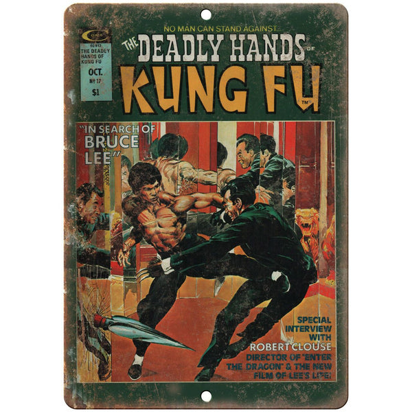 "Curtis Comics Deadly Hands of Kung Fu 10"" X 7"" Reproduction Metal Sign I100"