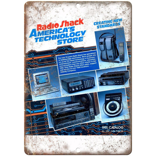"Radio Shack 1991 Electronics Catalog Cover 10"" x 7"" Reproduction Metal Sign"