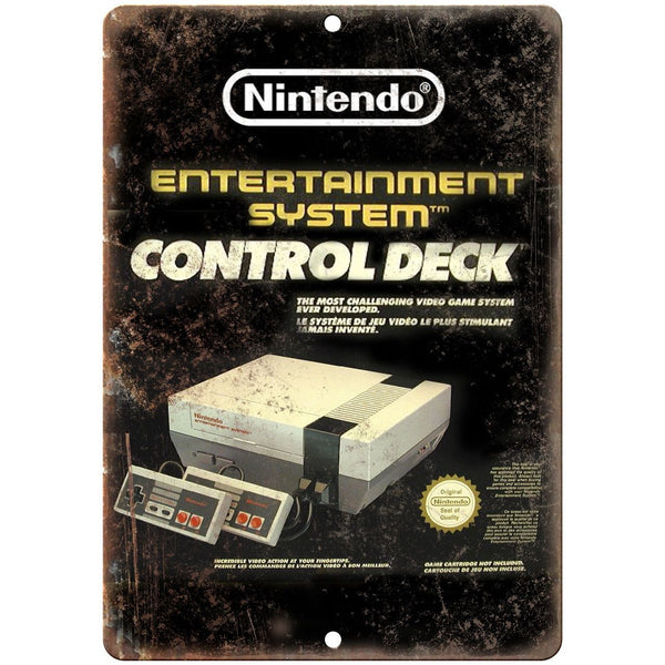 "Nintendo NES Control Deck Box Art 10"" x 7"" Retro Look Metal Sign"