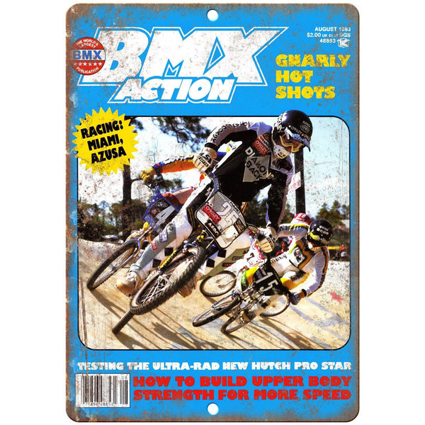 "1983 BMX Action Mag Diamond Back Racing 10"" x 7"" Reproduction Metal Sign B468"