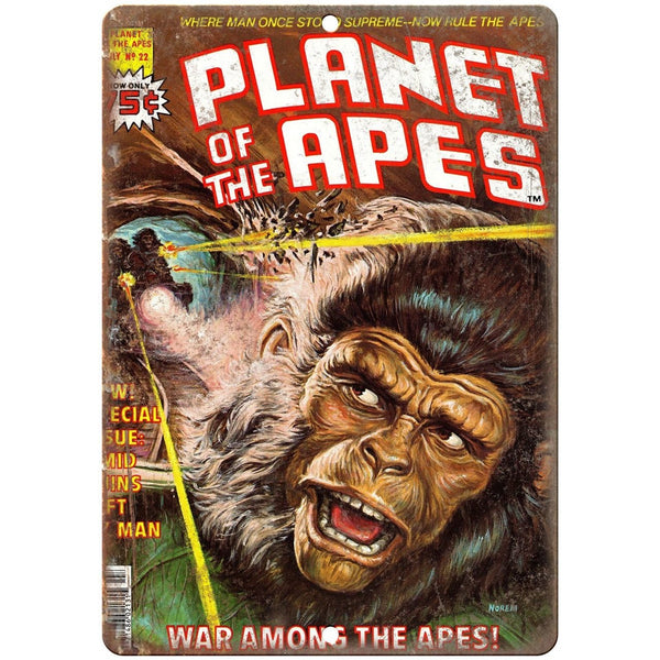 "Planet of the Apes vintage comic book cover 10'"" x 7"" reproduction metal sign"