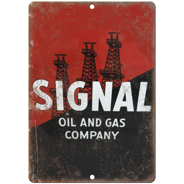 "Signal Oil & Gas Company Porcelain Look 10"" X 7"" Reproduction Metal Sign U82"