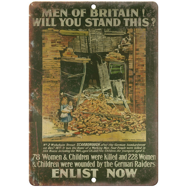 "Enlist Now British Military Recuritment 10"" x 7"" Reproduction Metal Sign M152"