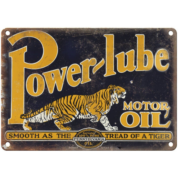 "Porcelain Look Oilzum Motor Oils Pennsylvania Oil 10/"" x 7/"" Retro Look Metal Sign"
