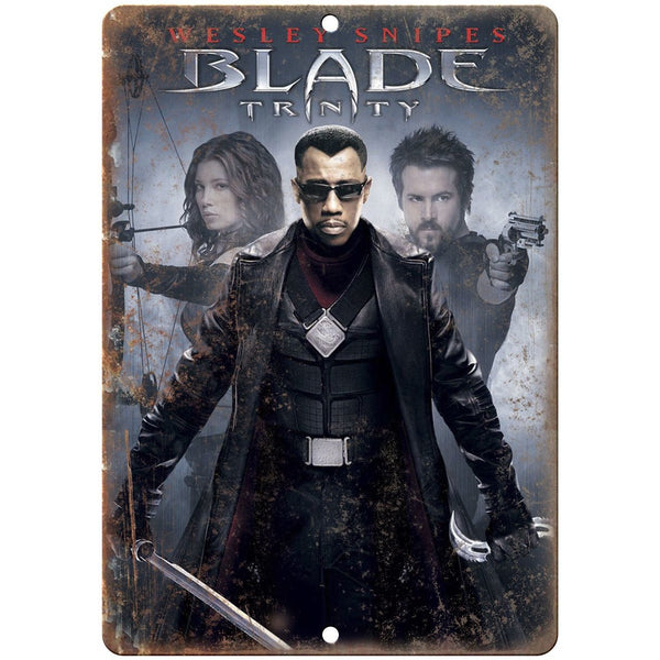 "10"" x 7"" Metal Sign - Blade Wesley Snipes - Vintage Look Reproduction"