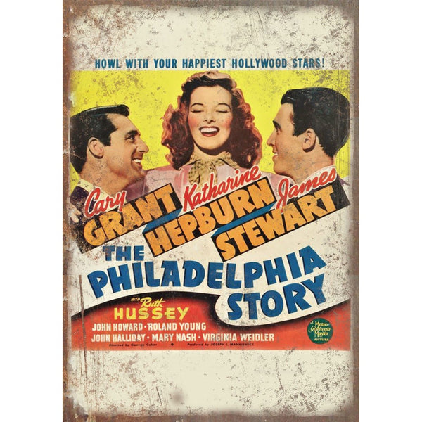 "The Philadelphia Story Cary Grant Movie Poster 10"" x 7"" Reproduction Metal Sign"