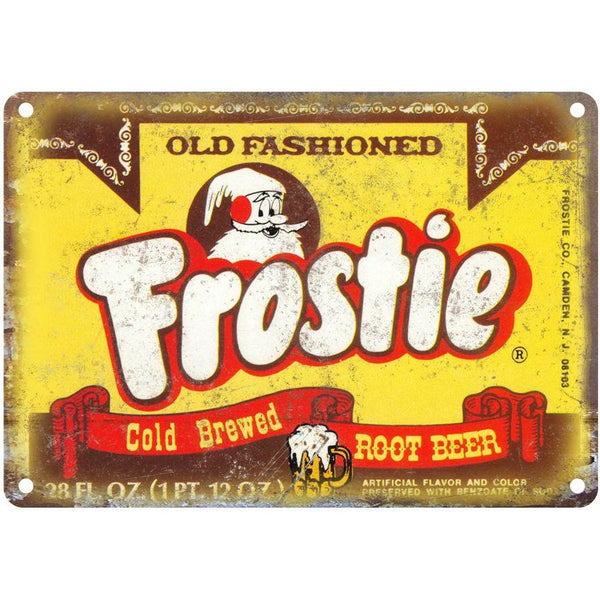 "Frostie Old Fashioned Rood Beer 10"" x 7"" Reproduction Metal Sign"