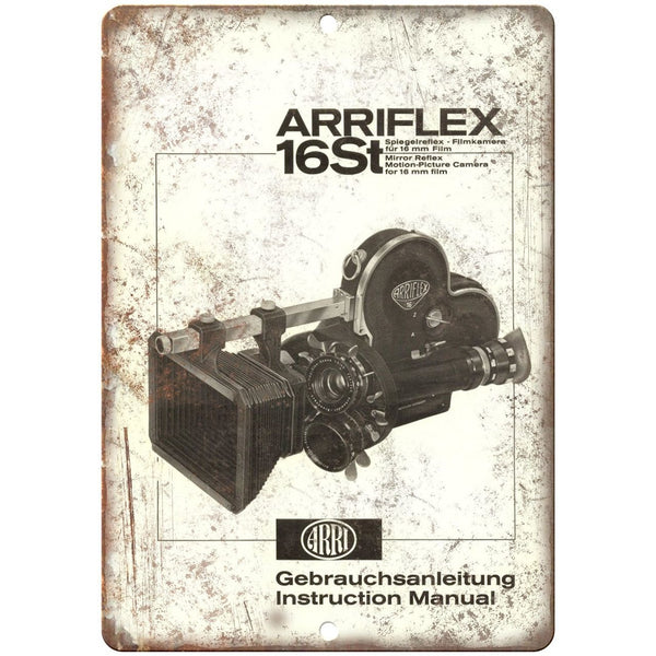"1958 - Arriflex 16st Film Camera Instruction - 10"" x 7"" Retro Look Metal Sign"