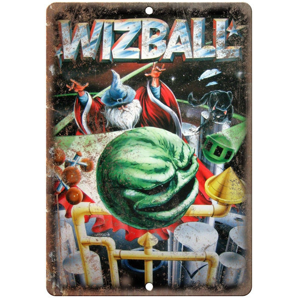"Wizball Pinball Machine Ad Vintage Gaming 10"" x 7"" Reproduction Metal Sign G152"