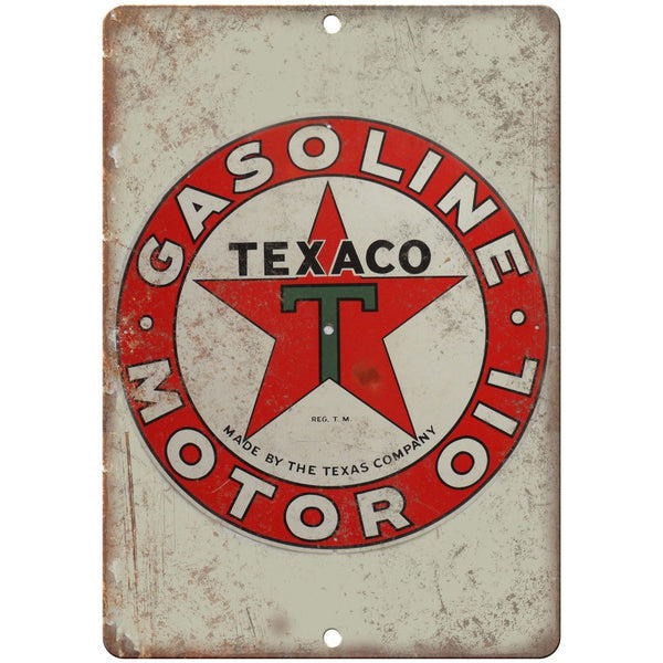 Texaco Motor Oil Porcelain Look Reproduction Metal Sign U116