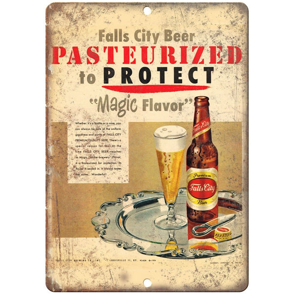 Falls City Beer Magic Flavor Vintage Breweriana Ad Reproduction Metal Sign E80
