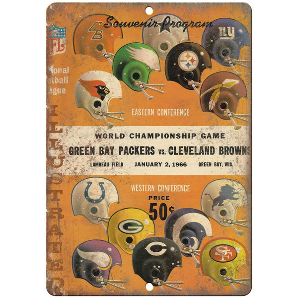 "1966 Green Bay Packers Vs. Cleveland Browns 10"" x 7"" Vintage Look Reproduction"