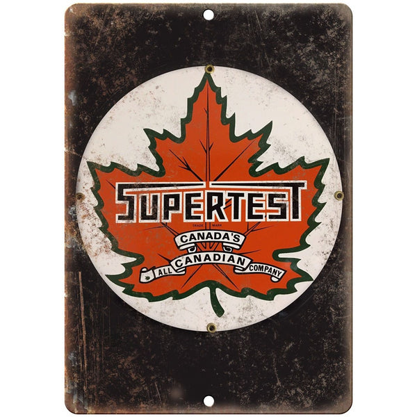 "Porcelain Look Supertest Canadian Company 10"" x 7"" Retro Look Metal Sign"