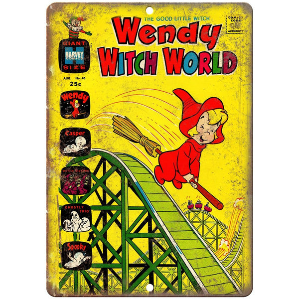 "Wendy The Good Little Witch Harvey Comic 10"" X 7"" Reproduction Metal Sign J446"