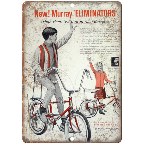 "Murray Eliminator Retro Bicycle Racing Ad 10"" x 7"" Reproduction Metal Sign B499"
