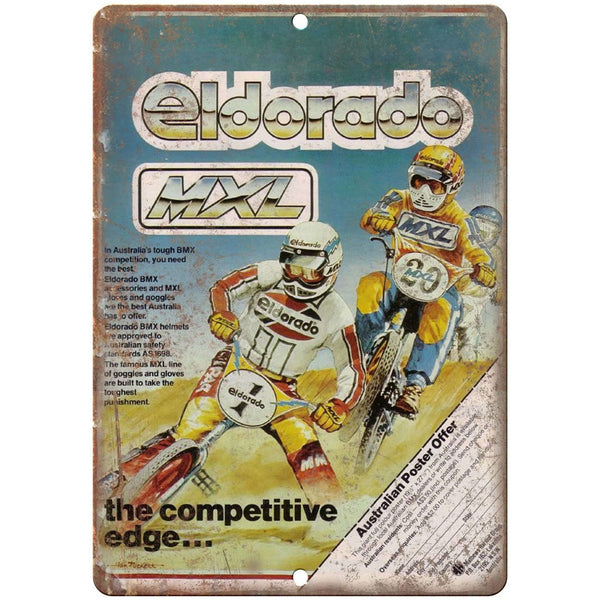 "BMX Eldorado Australia 10"" x 7"" reproduction metal sign"