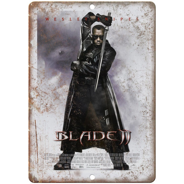 "10"" x 7"" Metal Sign - Blade 2 Wesley Snipes Vintage Look Reproduction"