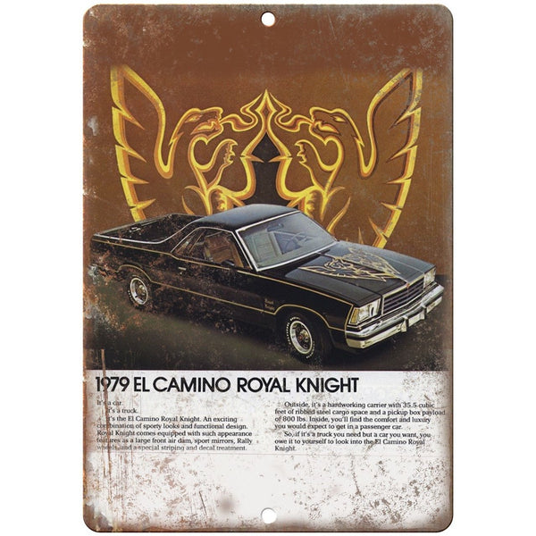 "1979 Chevy El Camino Royal Vintage Print Ad 10"" x 7"" Reproduction Metal Sign"