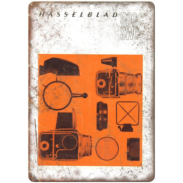 "Hasselblad 500C Film Camera 10"" x 7"" Retro Look Metal Sign"