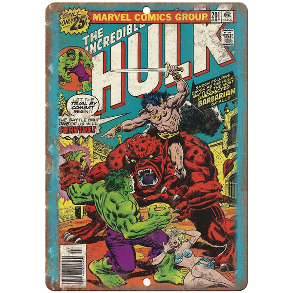 "The Incredible Hulk Marvel Comic Cover Ad 10"" x 7"" Reproduction Metal Sign J627"