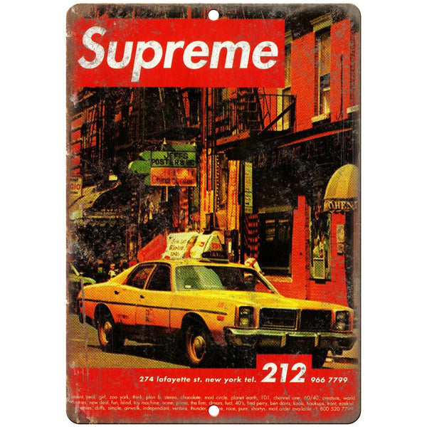 "Supreme New York Thrasher Ad 1994 10"" x 7"" reproduction metal sign"