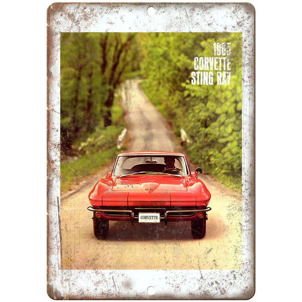 "1965 Chevy Corvette Sting Ray Sales Brochure 10"" x 7"" Reproduction Metal Sign"